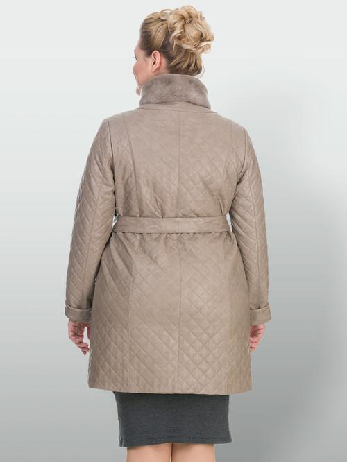Кожаное пальто артикул 01902644/48 - фото 3
