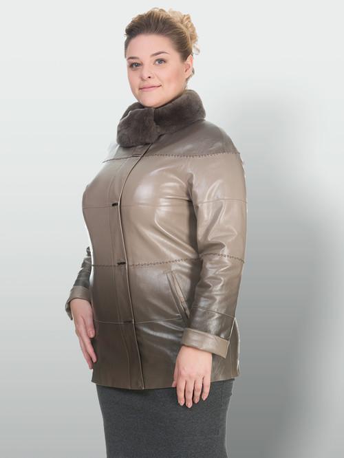 Кожаная куртка артикул 01902765/50 - фото 2