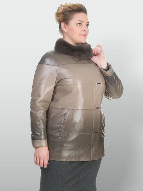 Кожаная куртка артикул 01902765/50 - фото 4