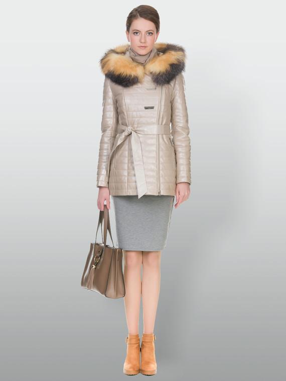 Кожаная куртка кожа , цвет бежевый, арт. 01902933  - цена 16990 руб.  - магазин TOTOGROUP
