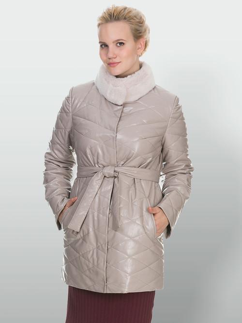 Кожаное пальто артикул 01902998/50 - фото 2