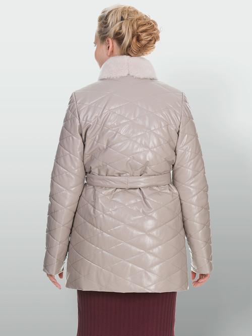 Кожаное пальто артикул 01902998/50 - фото 3