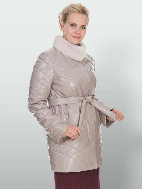 Кожаное пальто артикул 01902998/50 - фото 4