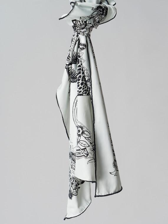 Шарф 100% шелк, цвет белый, арт. 02006117  - цена 990 руб.  - магазин TOTOGROUP