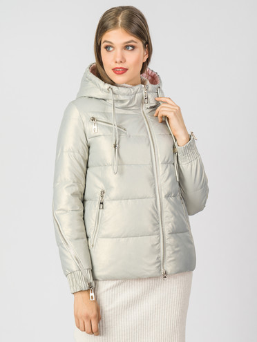 Кожаная куртка эко-кожа 100% П/А, цвет белый металлик, арт. 02007113  - цена 6990 руб.  - магазин TOTOGROUP