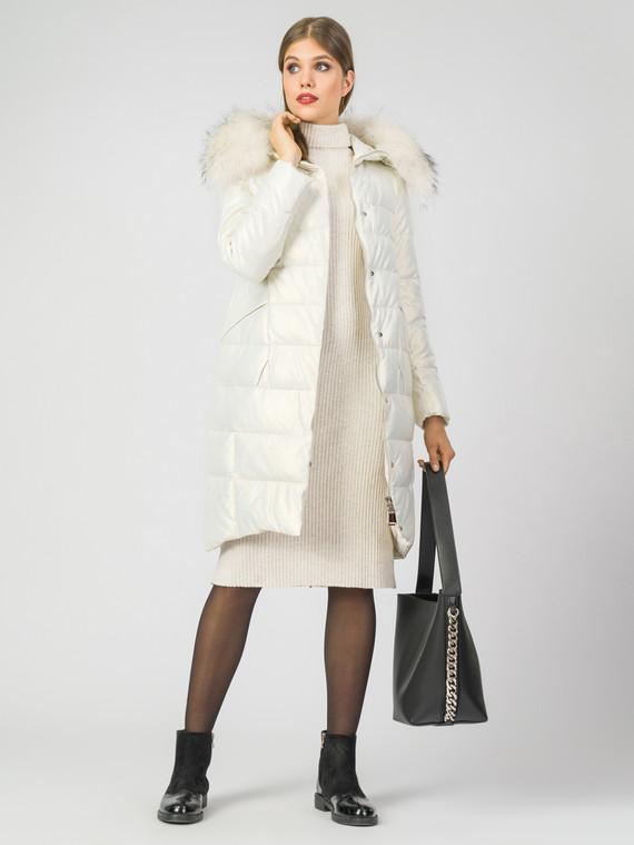 Кожаное пальто эко-кожа 100% П/А, цвет белый, арт. 02007115  - цена 11290 руб.  - магазин TOTOGROUP