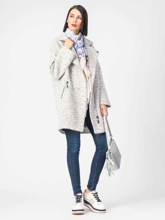 Текстильное пальто 30%шерсть, 70% п.э, цвет белый, арт. 02107902  - цена 5890 руб.  - магазин TOTOGROUP