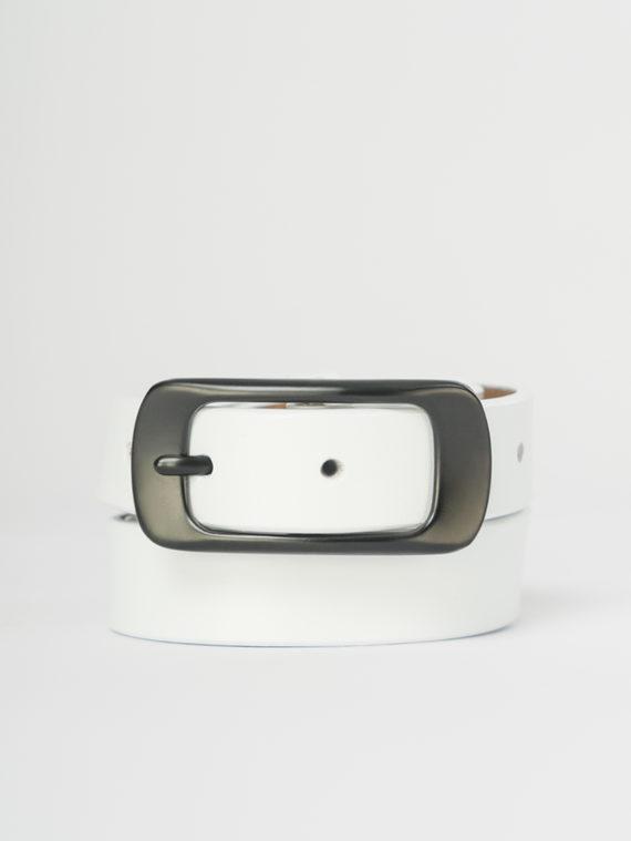 Ремень кожа корова, цвет белый, арт. 02108022  - цена 940 руб.  - магазин TOTOGROUP