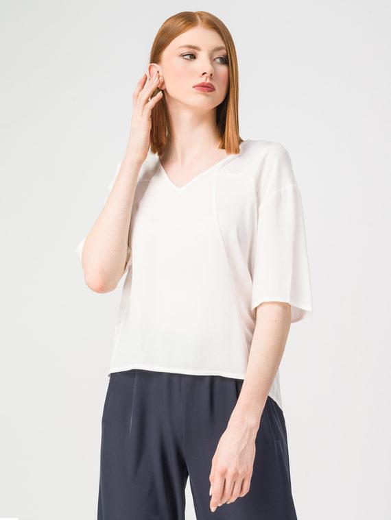 Блуза 100% вискоза, цвет белый, арт. 02108323  - цена 2420 руб.  - магазин TOTOGROUP