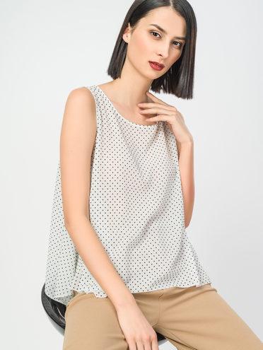 Блуза 100% полиэстер, цвет белый, арт. 02108326  - цена 990 руб.  - магазин TOTOGROUP