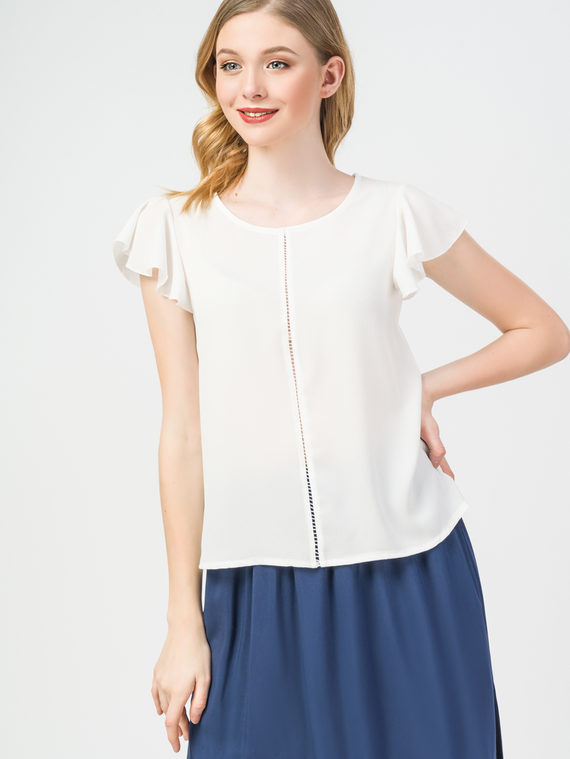 Блуза 97%полиэстер, 3%эластан, цвет белый, арт. 02108362  - цена 2290 руб.  - магазин TOTOGROUP