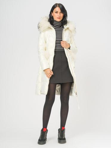 Кожаное пальто эко-кожа 100% П/А, цвет белый, арт. 02109240  - цена 10590 руб.  - магазин TOTOGROUP