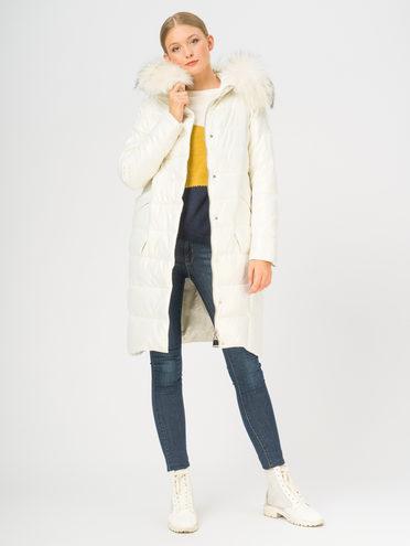 Кожаное пальто эко-кожа 100% П/А, цвет белый, арт. 02109241  - цена 11290 руб.  - магазин TOTOGROUP
