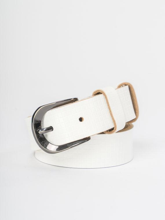 Ремень кожа корова, цвет белый, арт. 02109473  - цена 840 руб.  - магазин TOTOGROUP