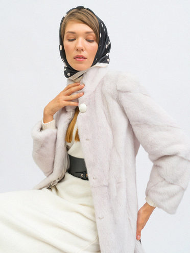 Шуба мех норка крашен., цвет белый, арт. 02109737  - цена 75990 руб.  - магазин TOTOGROUP