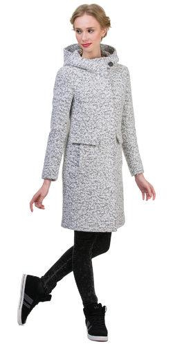 Текстильное пальто 30%шерсть, 70% п\а, цвет светло-серый, арт. 02700409  - цена 4990 руб.  - магазин TOTOGROUP