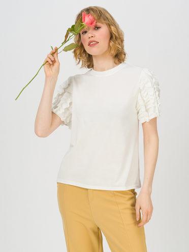 Блуза 80% хлопок, 20% п\э, цвет белый, арт. 02711706  - цена 1410 руб.  - магазин TOTOGROUP