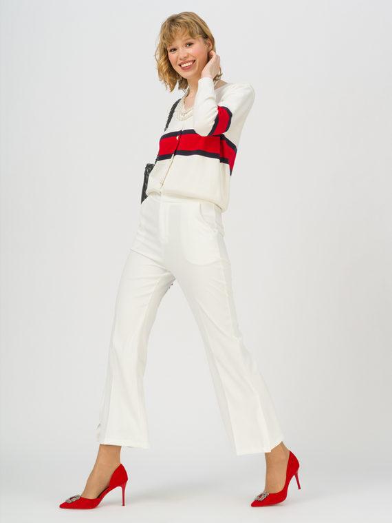 Брюки женские 95% полиэстер 5% эластан, цвет белый, арт. 02711720  - цена 1330 руб.  - магазин TOTOGROUP