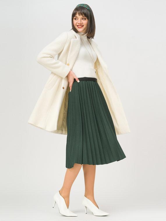 Текстильное пальто 35% шерсть, 65% полиэстер, цвет белый, арт. 02809966  - цена 3990 руб.  - магазин TOTOGROUP