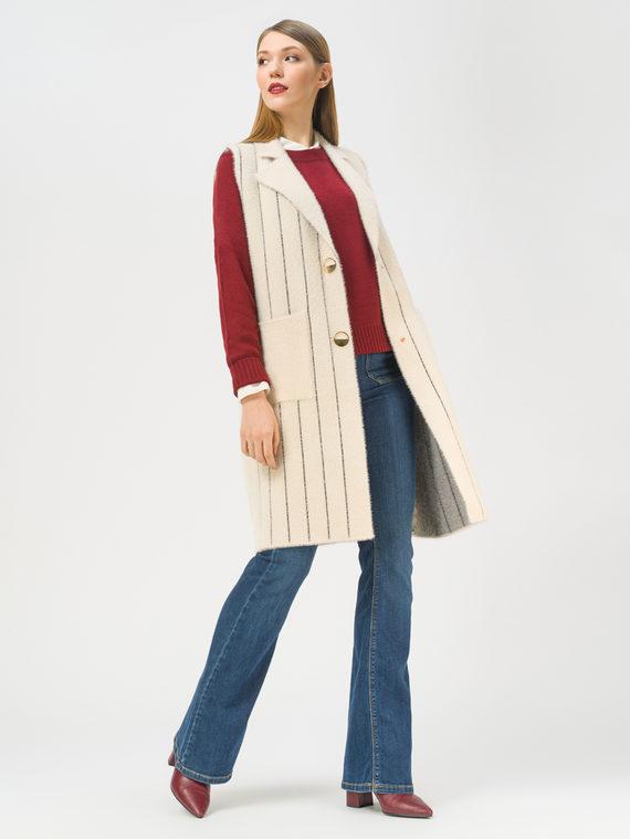 Текстильное пальто 100% полиэстер, цвет белый, арт. 02810134  - цена 3990 руб.  - магазин TOTOGROUP