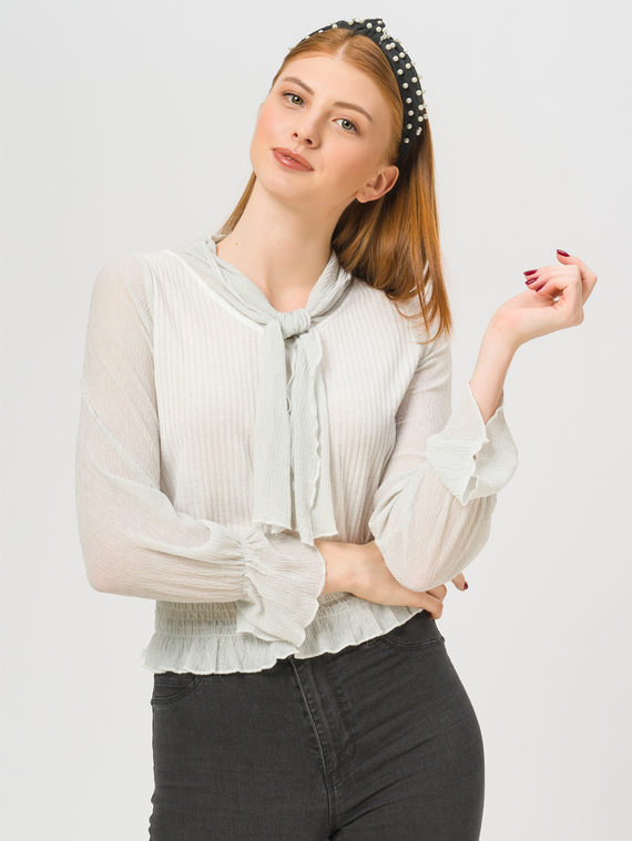 Блуза , цвет белый, арт. 02810254  - цена 890 руб.  - магазин TOTOGROUP