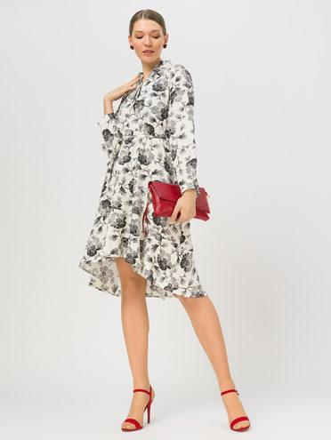 Платье 65% полиэстер, 35% хлопок, цвет белый, арт. 02810334  - цена 1410 руб.  - магазин TOTOGROUP
