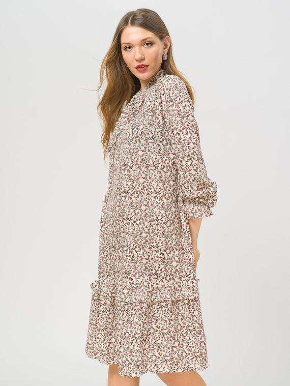 Платье 65% полиэстер, 35% хлопок, цвет белый, арт. 02810335  - цена 990 руб.  - магазин TOTOGROUP