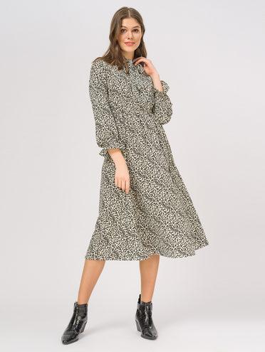 Платье 65% полиэстер, 35% хлопок, цвет белый, арт. 02810336  - цена 1190 руб.  - магазин TOTOGROUP
