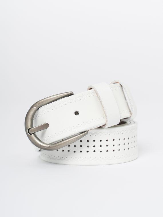 Ремень кожа теленок, цвет белый, арт. 02810387  - цена 990 руб.  - магазин TOTOGROUP