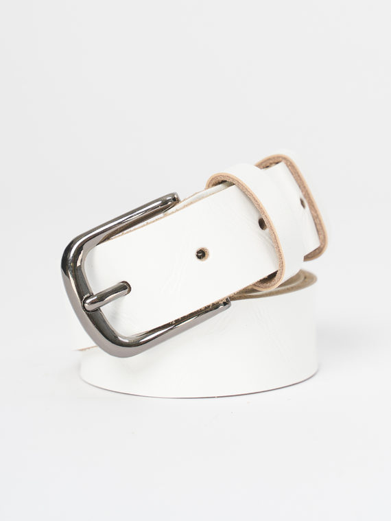 Ремень кожа теленок, цвет белый, арт. 02810396  - цена 990 руб.  - магазин TOTOGROUP