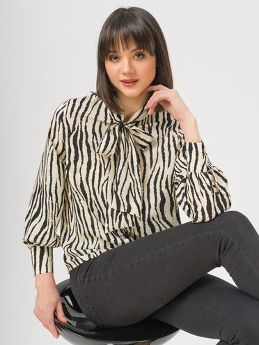 Блуза 100% полиэстер, цвет белый, арт. 02810446  - цена 1660 руб.  - магазин TOTOGROUP