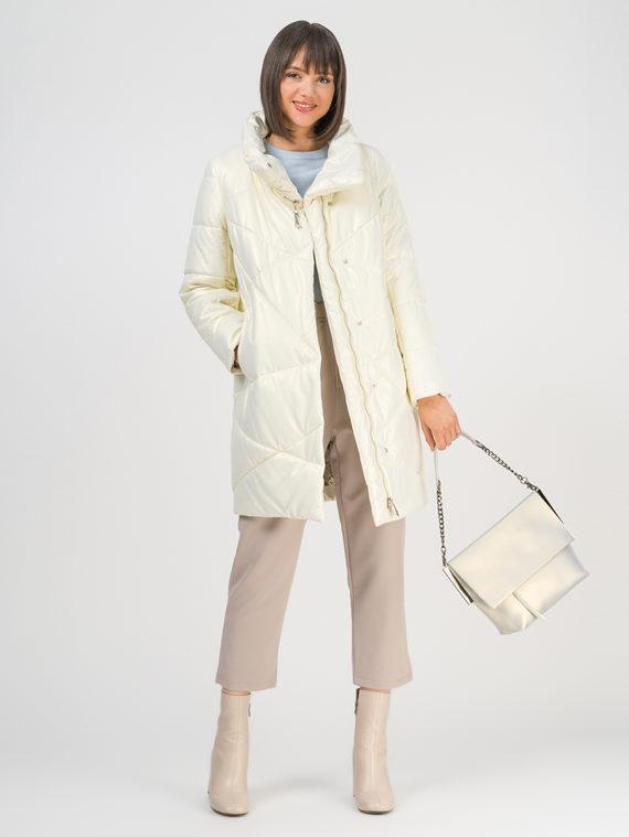 Кожаное пальто эко-кожа 100% П/А, цвет белый, арт. 02810541  - цена 8490 руб.  - магазин TOTOGROUP