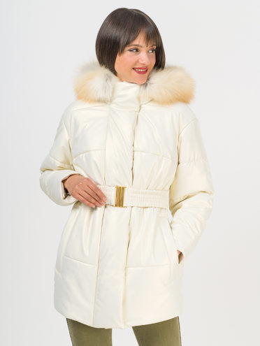 Кожаная куртка эко-кожа 100% П/А, цвет белый, арт. 02810680  - цена 13390 руб.  - магазин TOTOGROUP