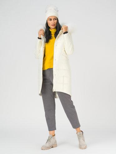 Кожаное пальто эко-кожа 100% П/А, цвет белый, арт. 02810787  - цена 17990 руб.  - магазин TOTOGROUP
