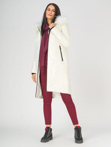 Кожаное пальто эко-кожа 100% П/А, цвет белый, арт. 02810788  - цена 17990 руб.  - магазин TOTOGROUP
