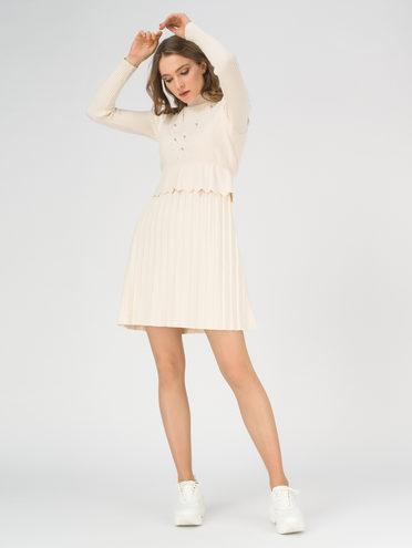 Платье 65% вискоза,35% нейлон, цвет белый, арт. 02811165  - цена 2420 руб.  - магазин TOTOGROUP