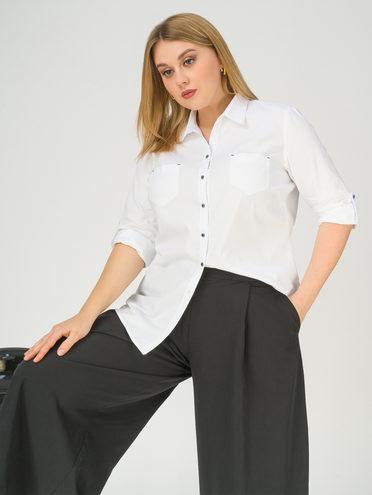 Блуза 100% хлопок, цвет белый, арт. 02811175  - цена 1850 руб.  - магазин TOTOGROUP