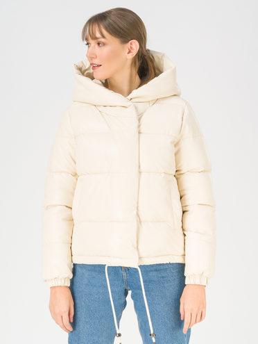 Кожаная куртка эко-кожа 100% П/А, цвет белый, арт. 02811208  - цена 2990 руб.  - магазин TOTOGROUP