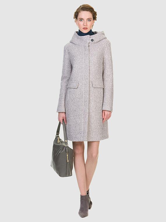 Текстильное пальто 30%шерсть, 70% п\а, цвет светло-серый, арт. 02902908  - цена 3990 руб.  - магазин TOTOGROUP