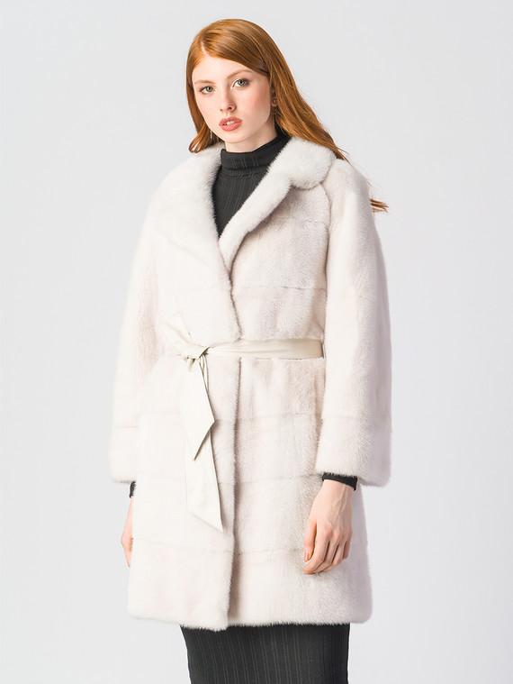 Шуба из норки мех норка, цвет белый, арт. 02903514  - цена 63990 руб.  - магазин TOTOGROUP