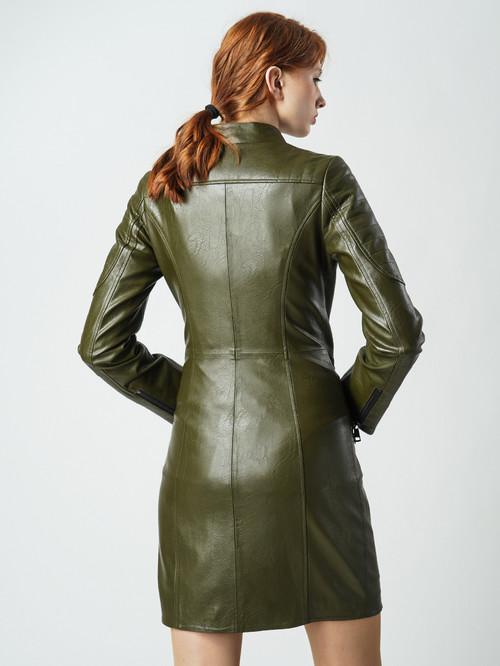 Кожаное пальто артикул 03005796/42 - фото 3