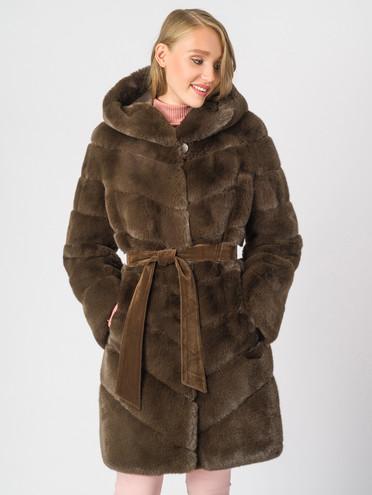 Шуба под кролика мех под кролика, цвет коричневый, арт. 03007075  - цена 14190 руб.  - магазин TOTOGROUP