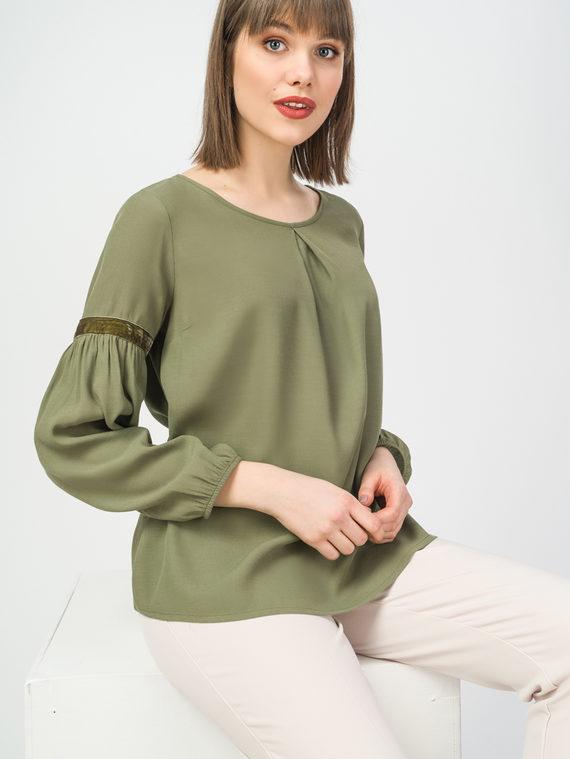 Блуза 100% вискоза, цвет болотный, арт. 03108319  - цена 2840 руб.  - магазин TOTOGROUP