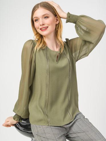 Блуза 100% вискоза, цвет болотный, арт. 03108327  - цена 1490 руб.  - магазин TOTOGROUP