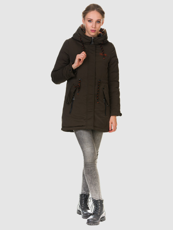 Пуховик текстиль, цвет темно-коричневый, арт. 03901010  - цена 2290 руб.  - магазин TOTOGROUP
