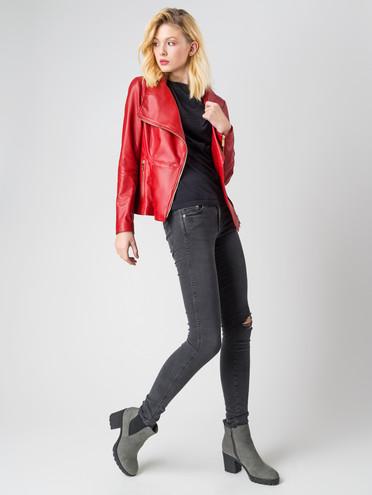 Кожаная куртка кожа , цвет бордо, арт. 04005527  - цена 11290 руб.  - магазин TOTOGROUP