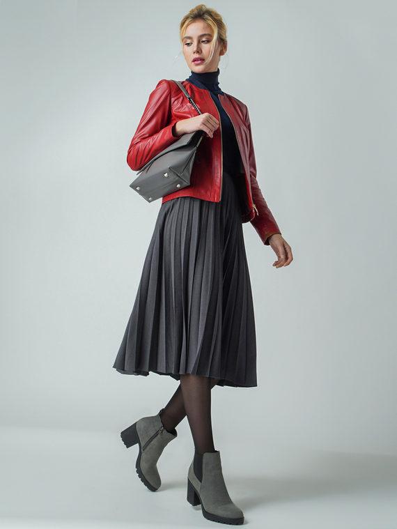 Кожаная куртка кожа , цвет красный, арт. 04005537  - цена 13390 руб.  - магазин TOTOGROUP