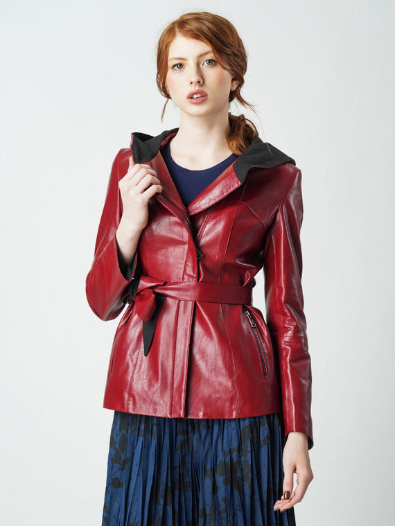 Кожаная куртка эко кожа 100% П/А, цвет бордо, арт. 04005773  - цена 5890 руб.  - магазин TOTOGROUP