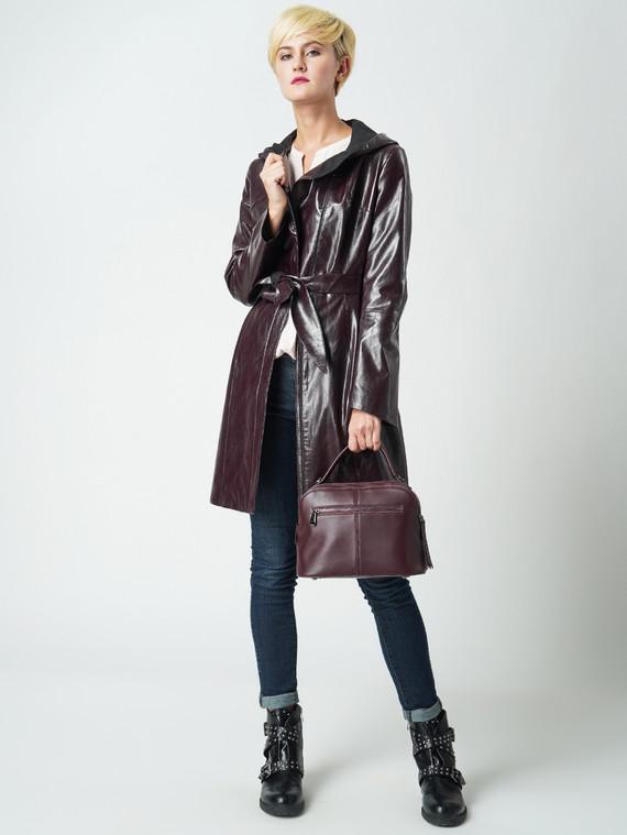 Кожаное пальто эко кожа 100% П/А, цвет бордо, арт. 04005774  - цена 6290 руб.  - магазин TOTOGROUP
