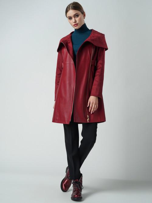 Кожаное пальто артикул 04005795/44